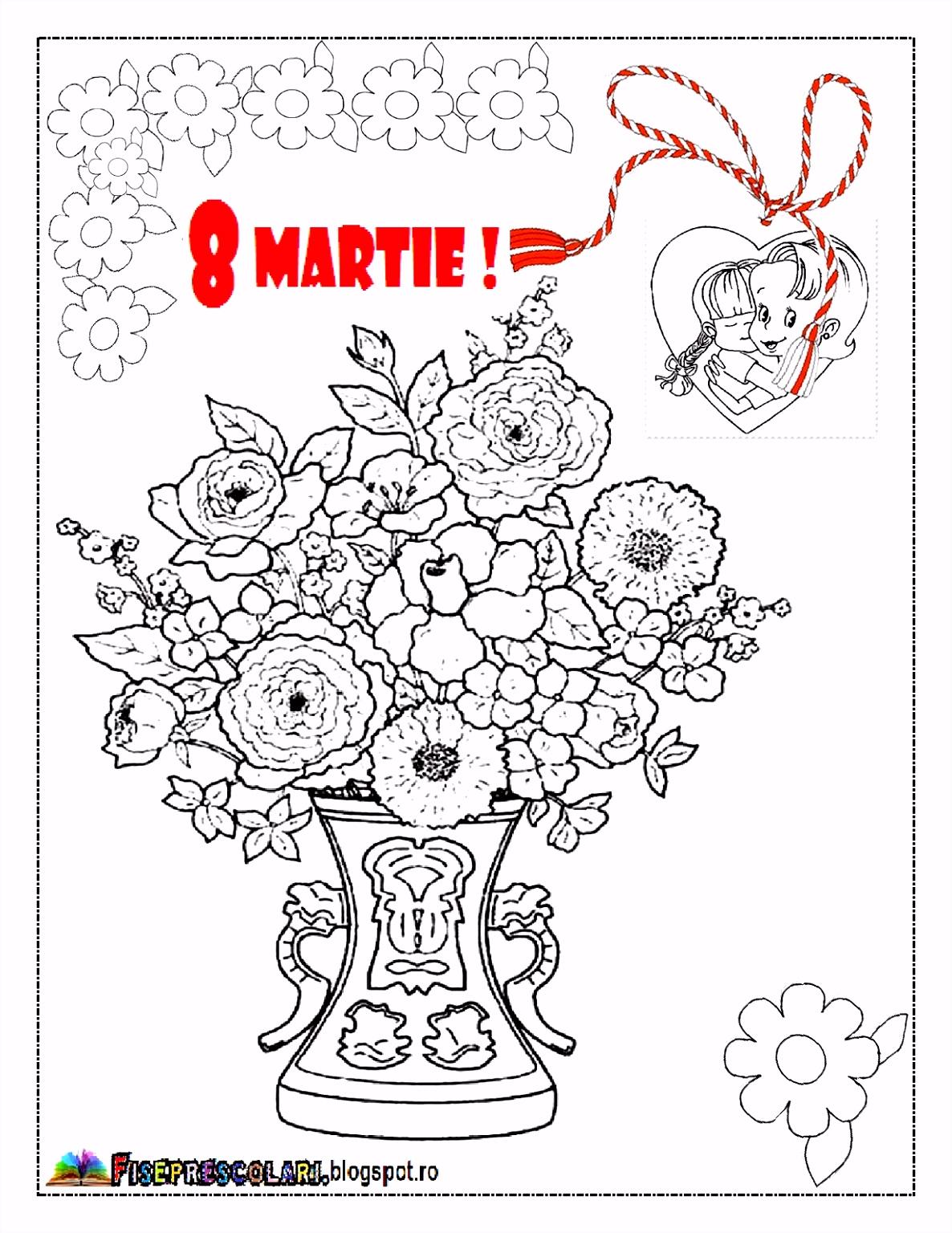 PLANSE de colorat pentru Mamici Planse de colorat pentru 8 Martie