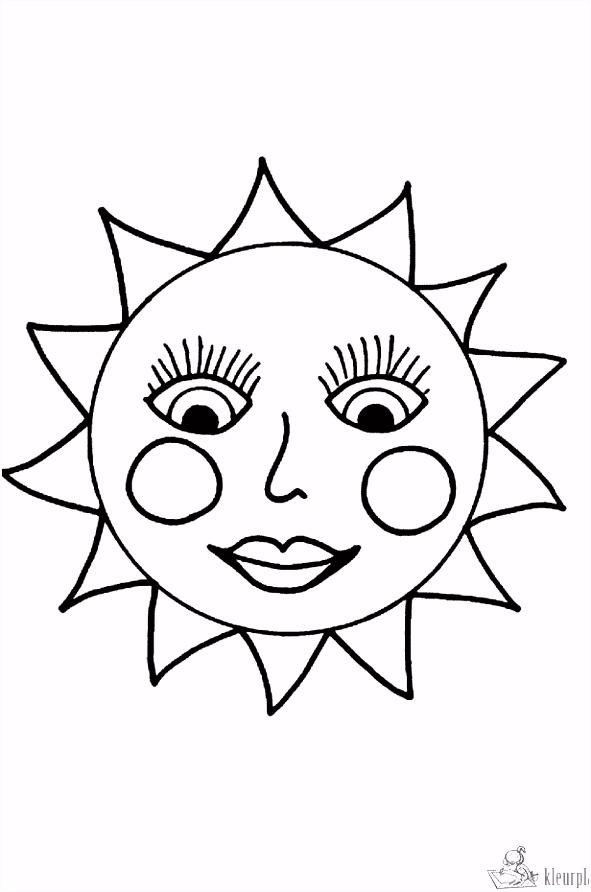 Kleurplaten zon