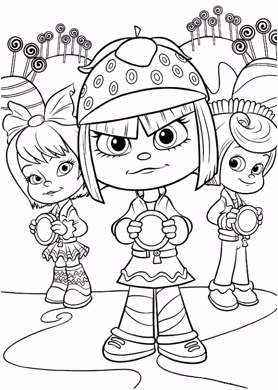 coloring page Wreck it Ralph girls Coloring Ideas