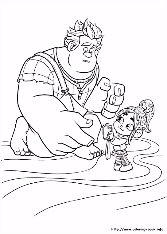 Sarah s Super Colouring Pages Wreck It Ralph coloring pages