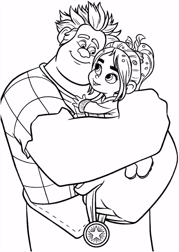 Wreck it Ralph Coloring Pages Crafting Pinterest
