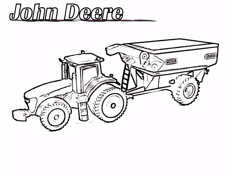 6 Kleurplaat Tractor
