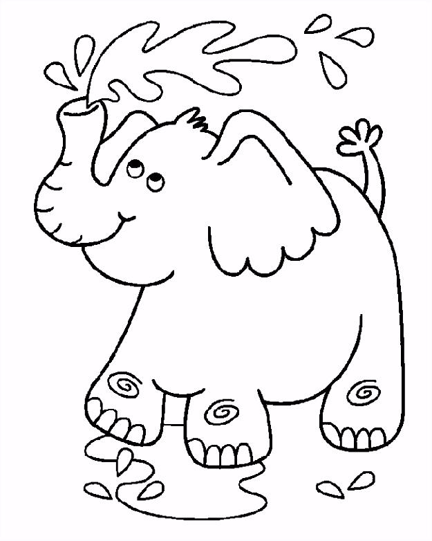 olifant kleurplaat Crafts Pinterest