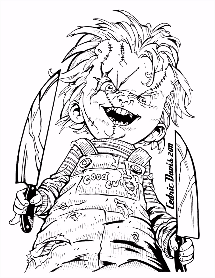 Image result for Scary Horror Coloring Pages Tattoos