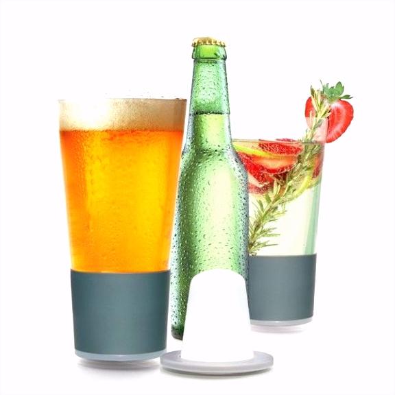 Met het Beer Freeze pint glass blijft je drankje langer koel