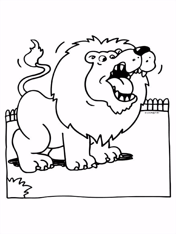 Kleurplaat Brullende leeuw Kleurplaten