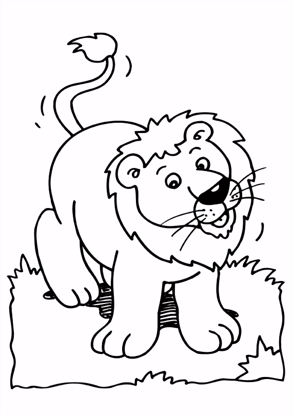 Kleurplaat leeuw School SO axen ren