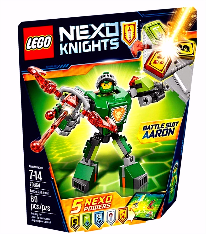 Amazon LEGO Nexo Knights Battle Suit Aaron Toys & Games