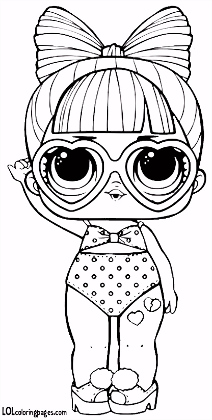 SPF Q T Series 3 L O L Surprise Doll Coloring Page