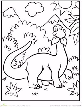 Cute Dinosaur Coloring Page Party Boy Dinosaur