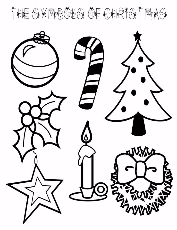 disegni da colorare di natale alcuni fra i simboli delle feste