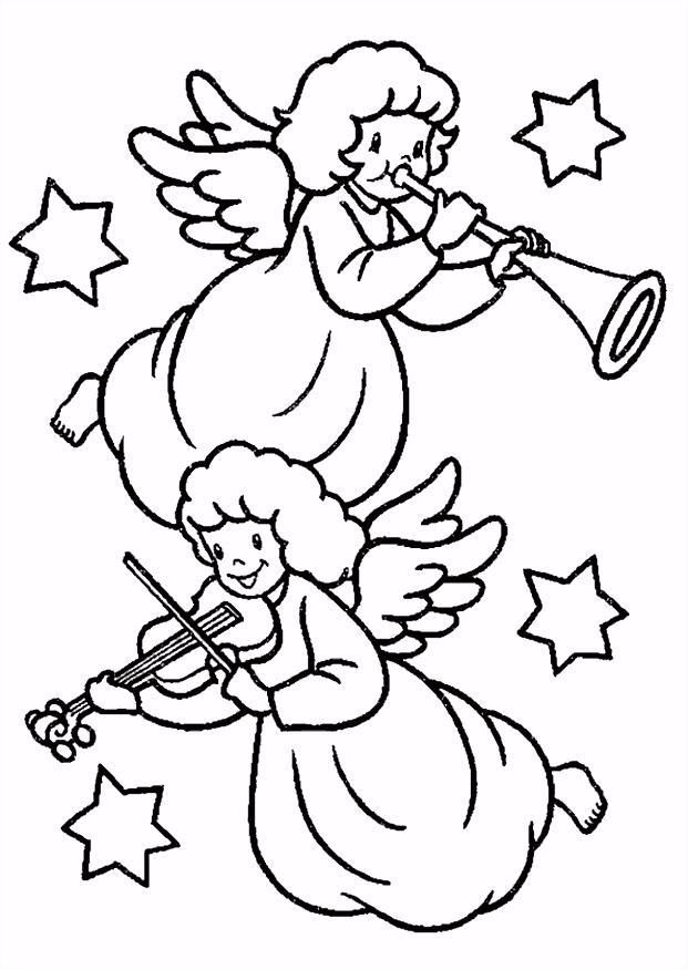 Kleurplaten Kerst kleurplaten Kerst engel Animaatjes