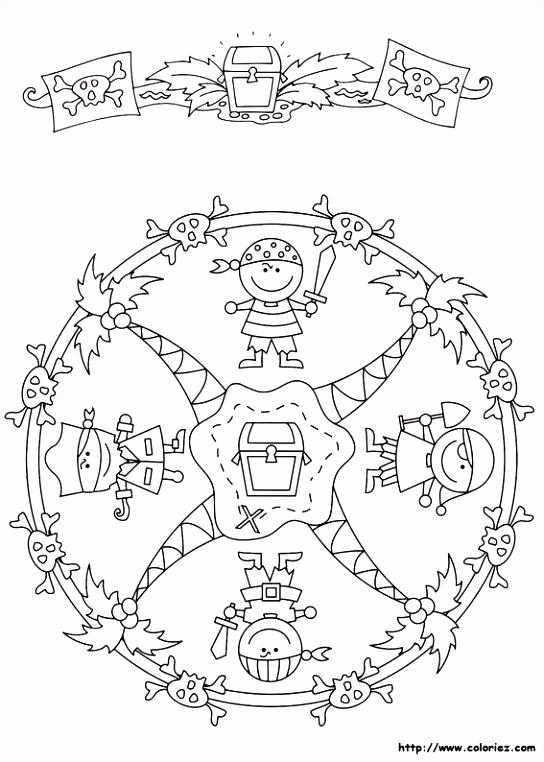 Mandala de pirates Mándalas Pinterest