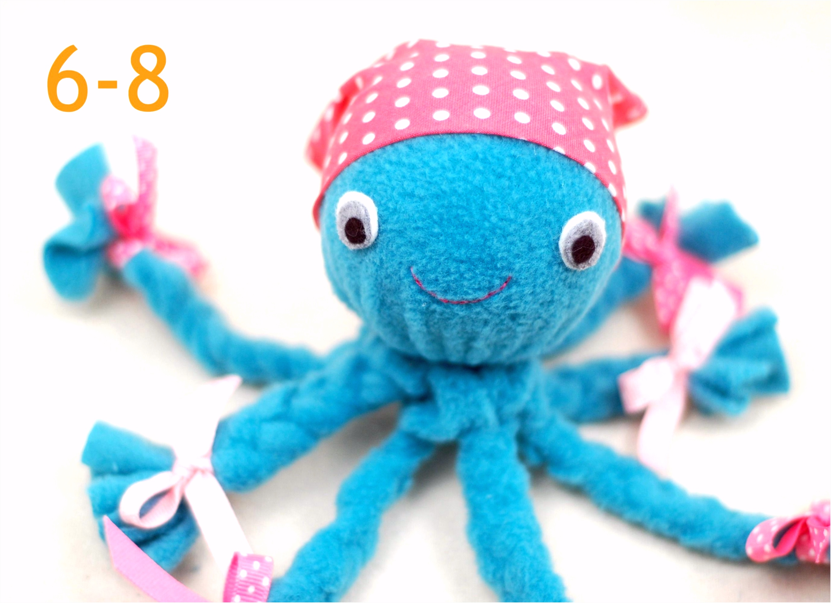 No Sew Fleece Octopus Tutorial Pets Pinterest
