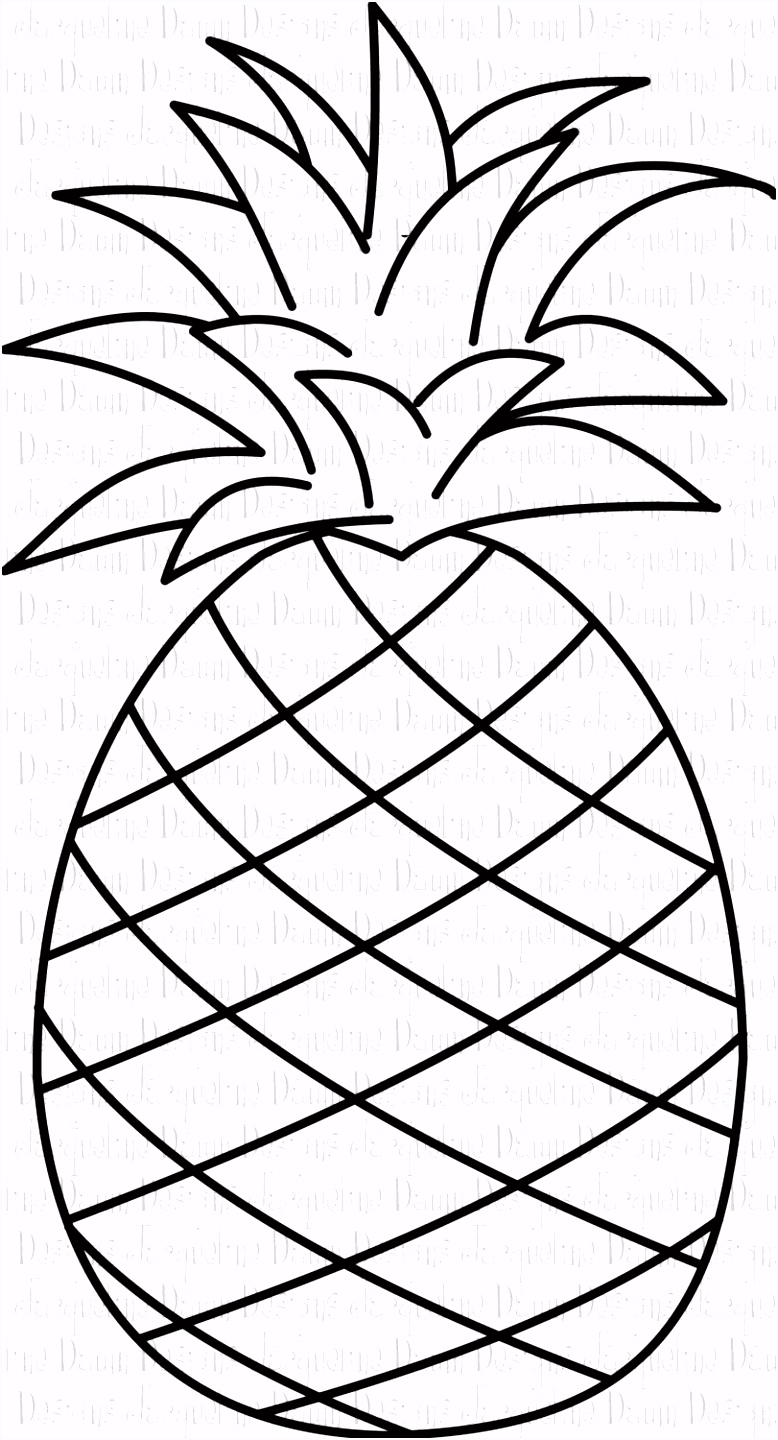 pineapple clipart black and white Google Search