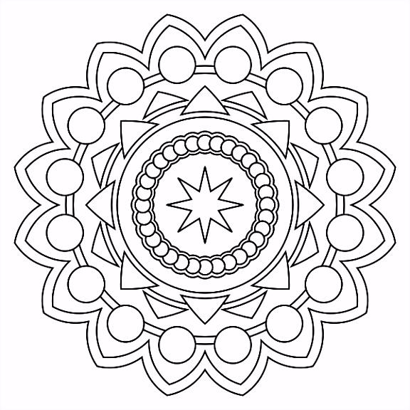 24 Inspirational Mandala Coloring Pages