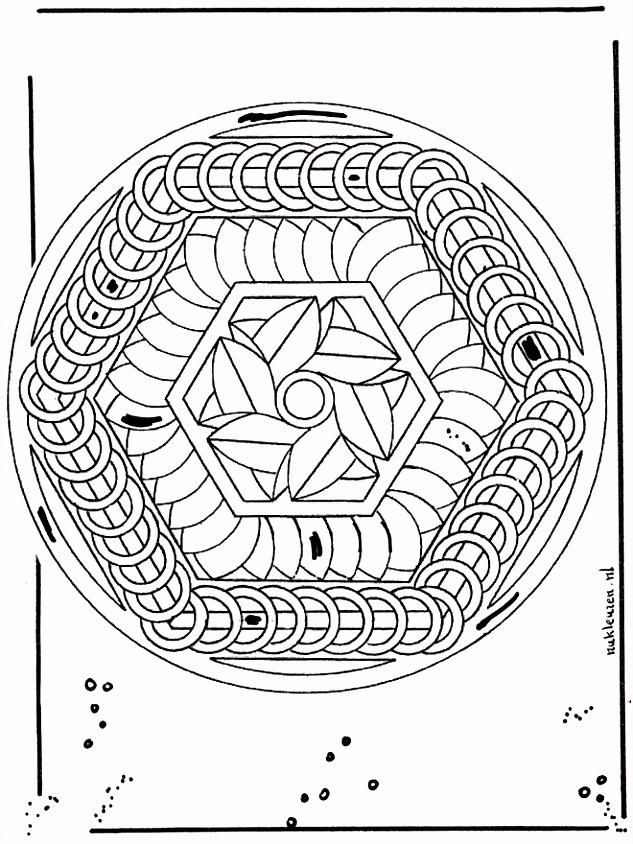 Geometrische Kleurplaten Nieuw Geometrische Mandala Kleurplaat