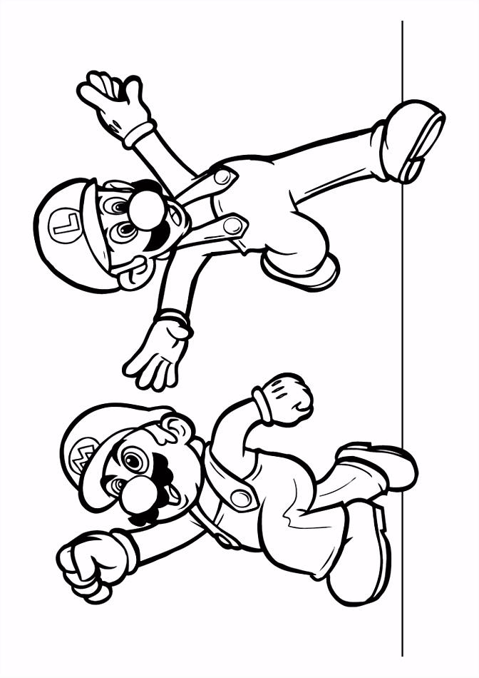 Mario Bros mario en luigi Mario Bros Kleurplaten Kleurplaat