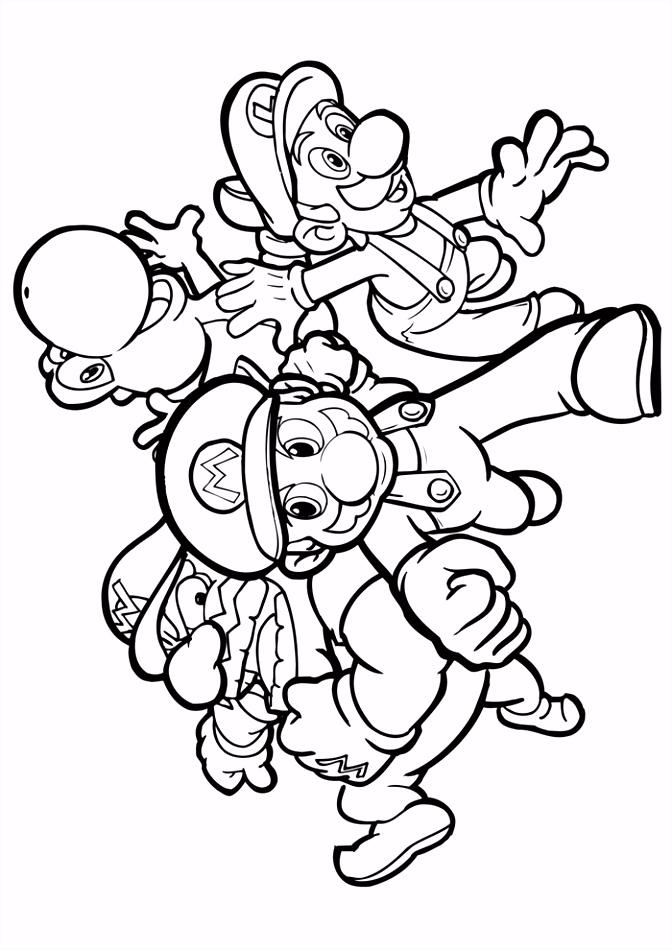 Mario Bros mario en zijn vrienden Mario Bros Kleurplaten