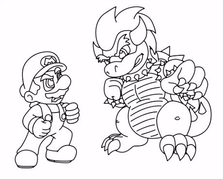 Mario Kleurplaten Mario Vs Bowser Kleurplaat Q4oj48sey4 H2xws5egw4