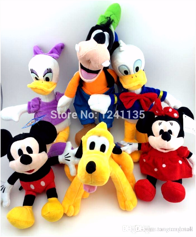 Mickey And Minnie Mouse Plush Toy Donald Duck And Daisy GOOFy Dog