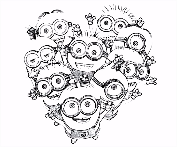 Minion Kleurplaten Love The Minion Coloring Page Minion Rush