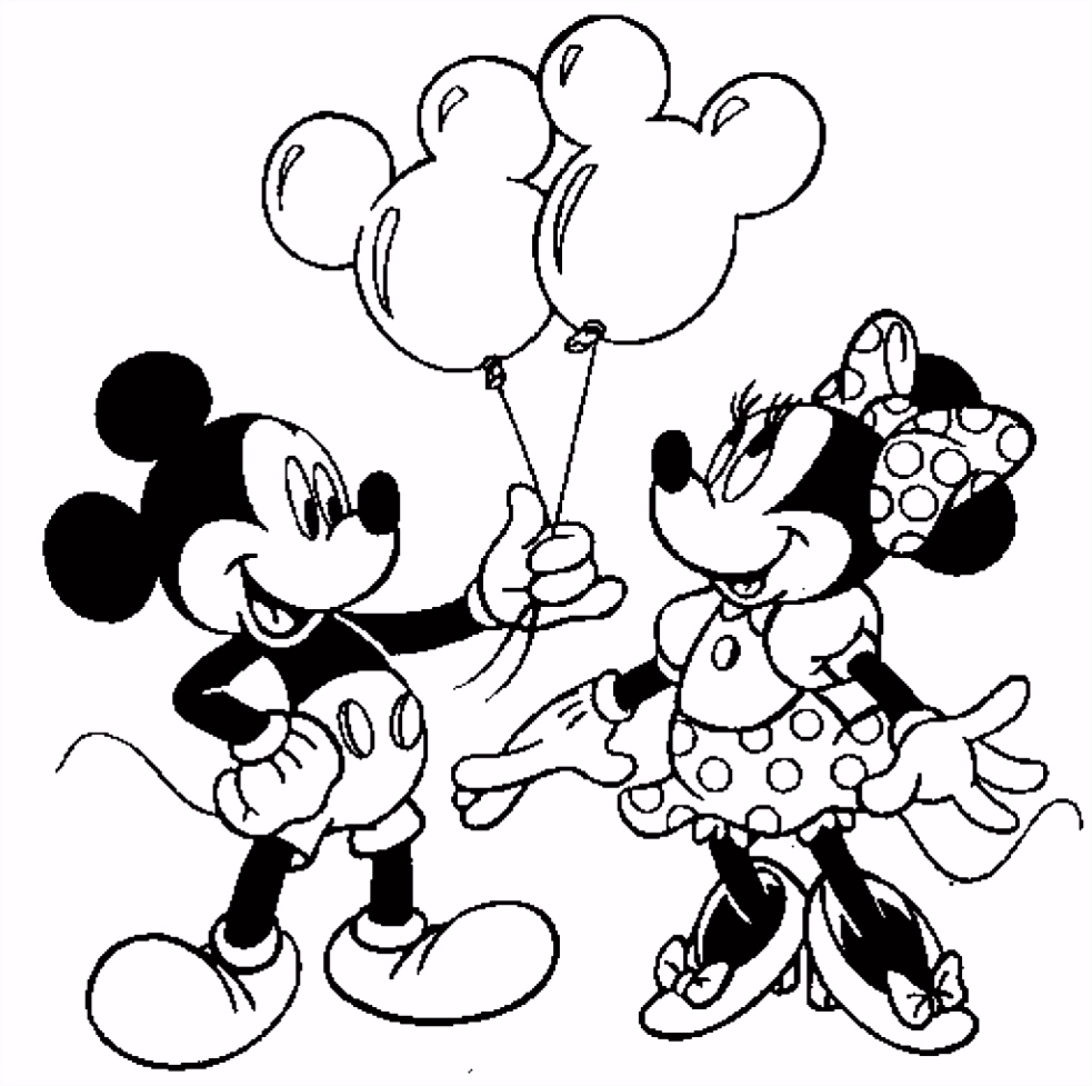 Minnie And Mickey Coloring Pages