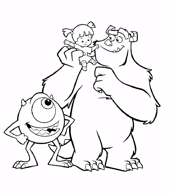 Monsters INC Coloring Page Coloring Pages of Epicness