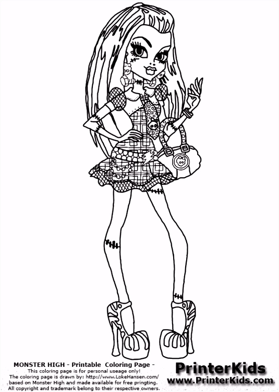 12 Monster High Printable Coloring Pages Eco Coloring Page