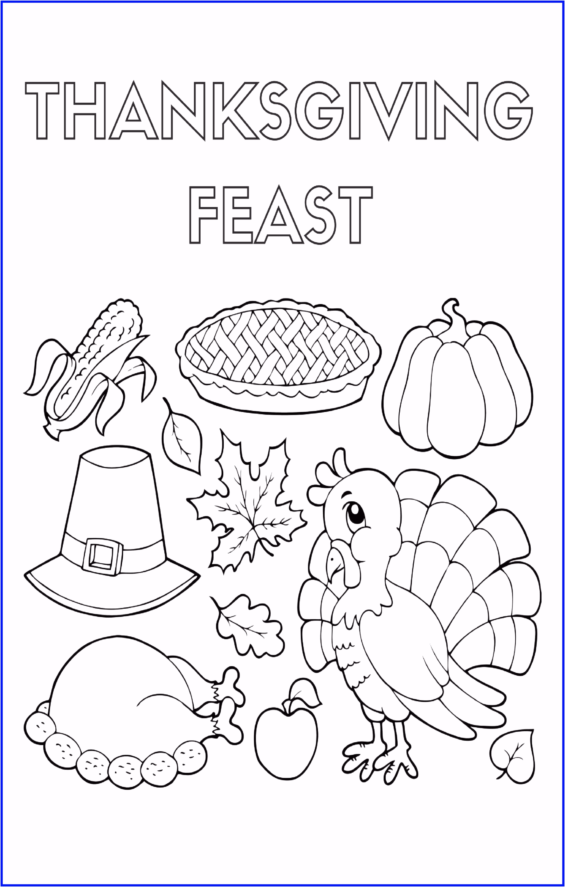 14 Awesome Thanksgiving Coloring Pages Math