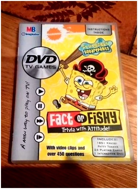 SPONGEBOB SQUAREPANTS FACT or Fishy DVD TV Game Trivia with
