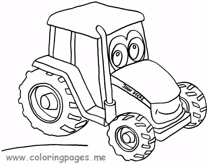 55 Fantastisch Kleurplaat Tractor Afbeeldingen