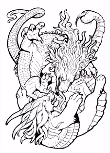 136 best Lineart Dragons images on Pinterest