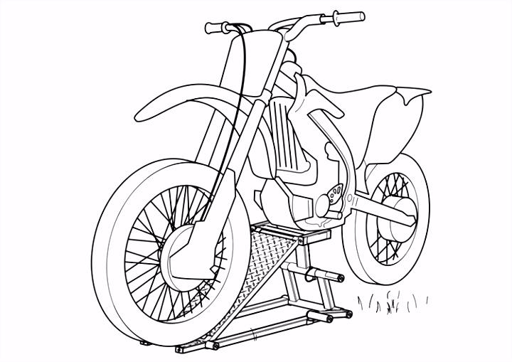 Kleurplaat motorfiets Afb