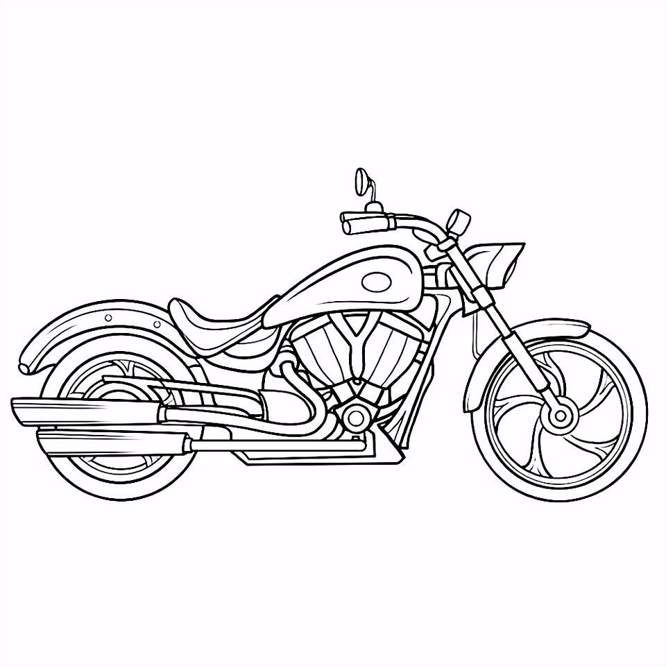Kleurplaten Crossmotor ARCHIDEV
