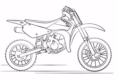 Suzuki Dirt Motorfiets kleurplaat