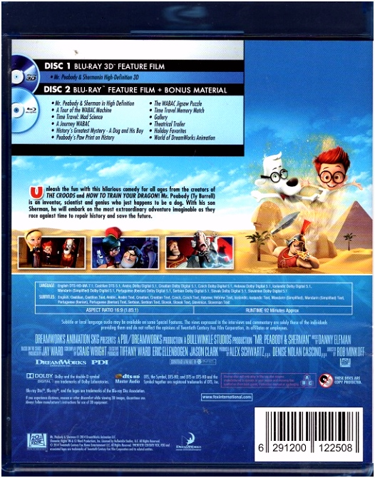 Mr Peabody En Sherman Mr Peabody & Sherman 2014 Classic Horror Board Y9eb54ian4 Q5wn5sfxmu