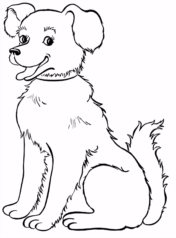 How to Color coloring pages draw a dog for kids concept design home