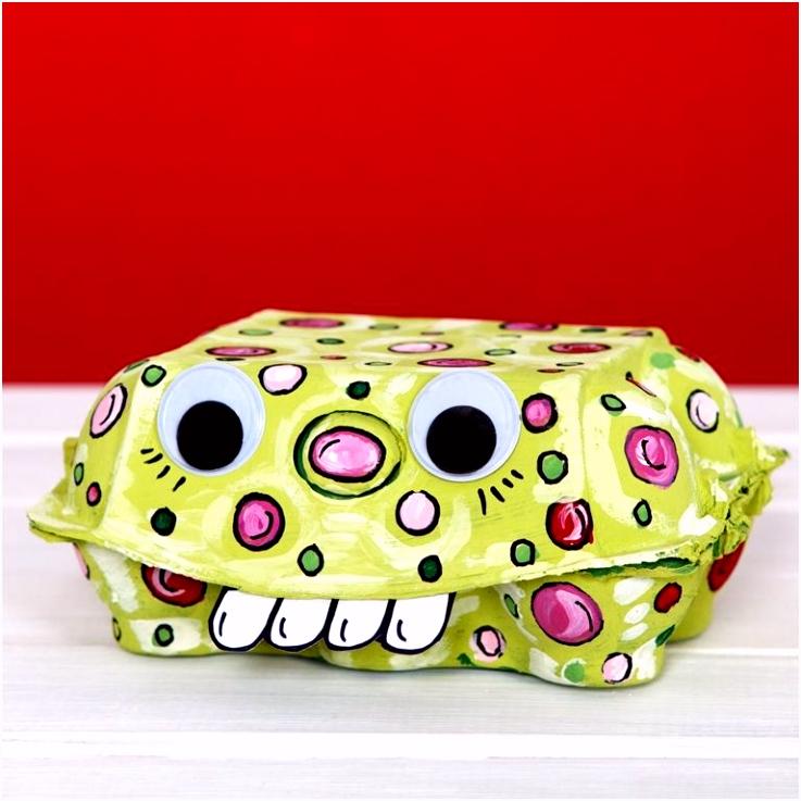 Monster Egg Box 3CRAFTS for KIDS Pinterest