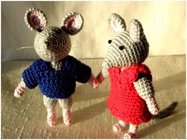 Patroon Sam & Julia van het Muizenhuis Amigurumi