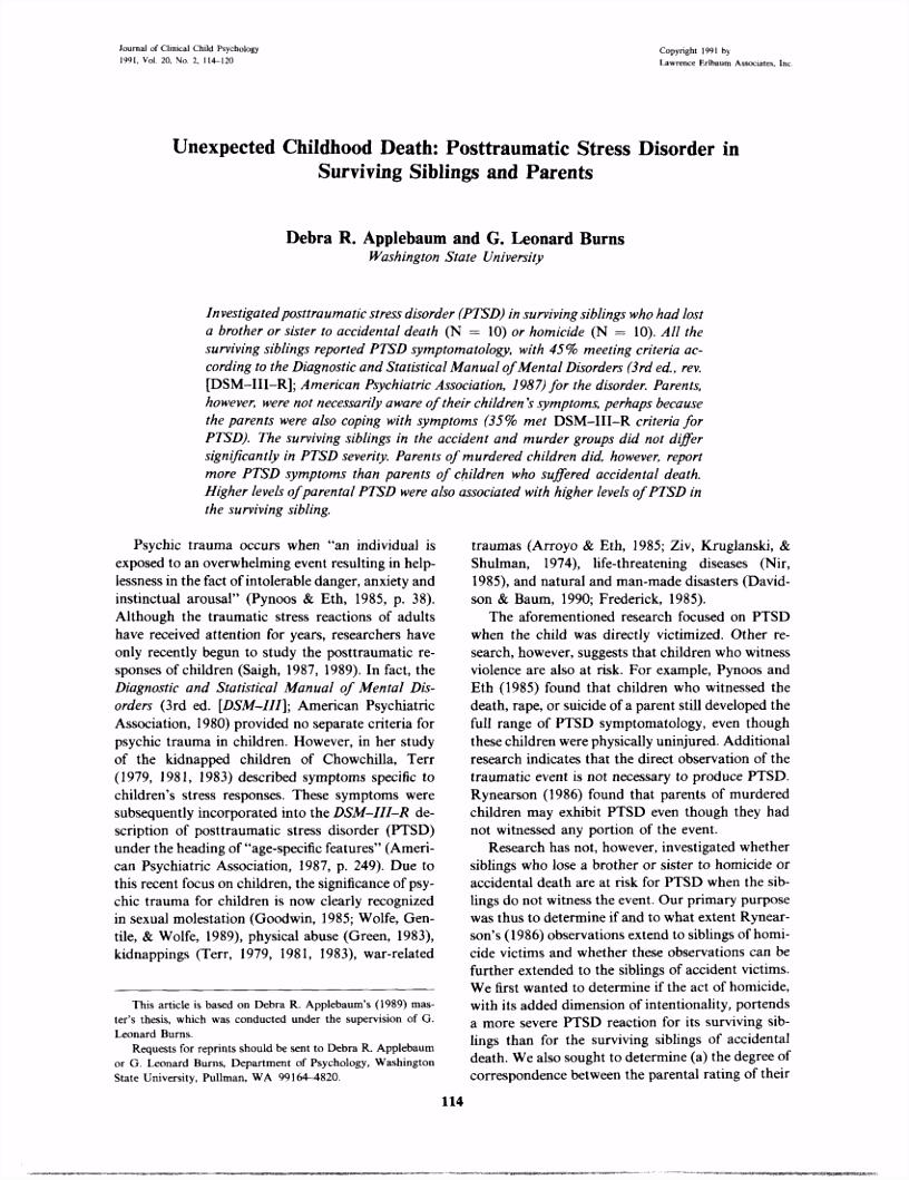 PDF Trauma and ADHD – Association or Diagnostic Confusion A