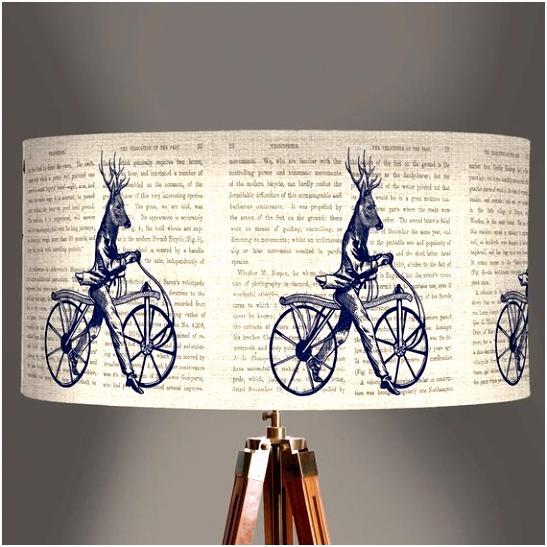 Dandy herten op fiets lampenkap Pendant lamp schaduw