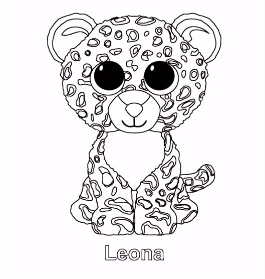 Free Printable Beanie Boo Coloring Pages 30 Best Ty Beanie