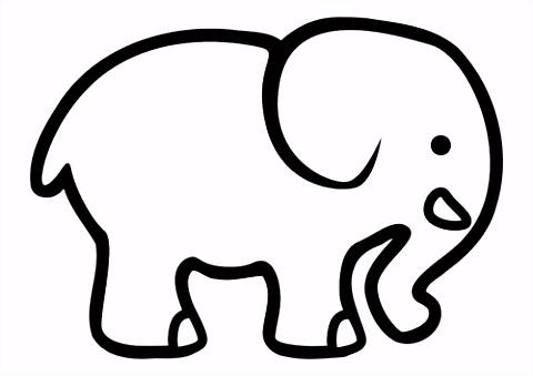 Kleurplaat olifant peuters