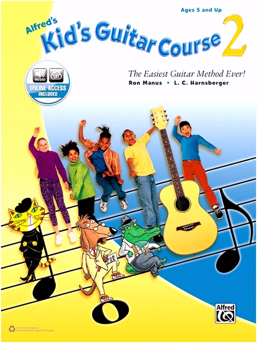 Alfred s Kid s Guitar Course 2 Guitar Book & line Audio