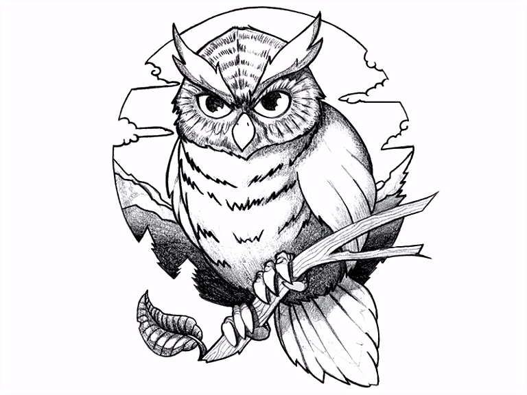 Deadpool Kleurplaten Owl Coloring Pages For Adults Printable