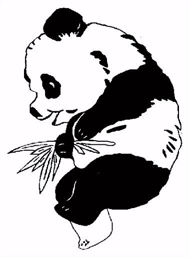 Gratis Panda Beer Kleurplaten voor Kinderen 3