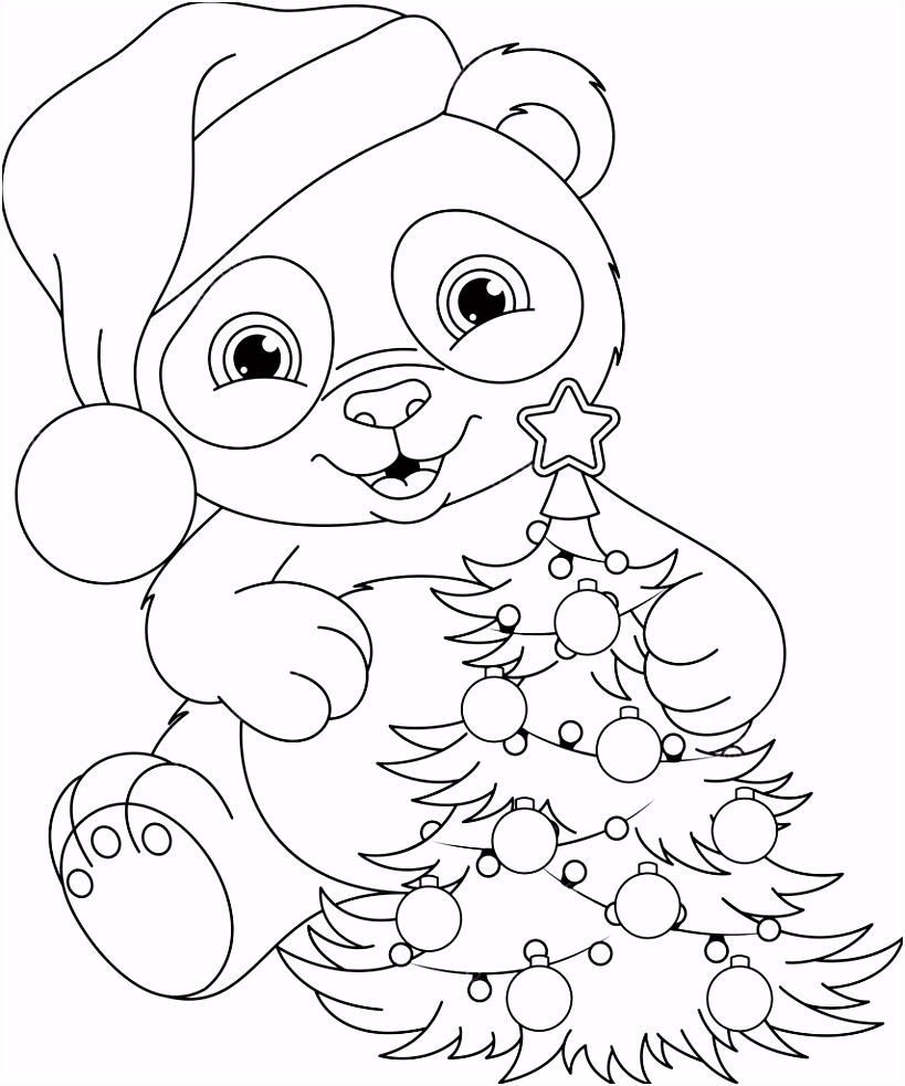 Panda Kleurplaten Panda Kerst Kleurplaat — Stockvector © Malyaka F3yg03upk6 Tuqr54sde5