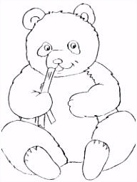 Pandabeer kleurplaten TopKleurplaat
