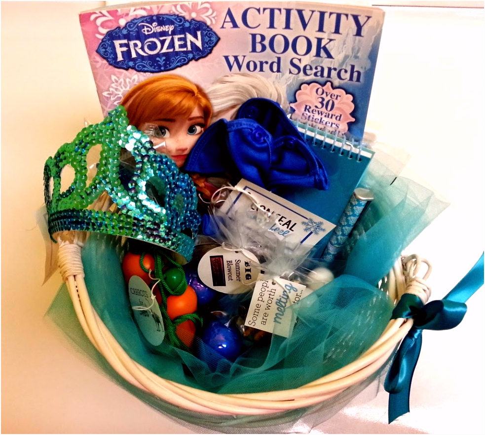 creative cents Frozen Easter basket